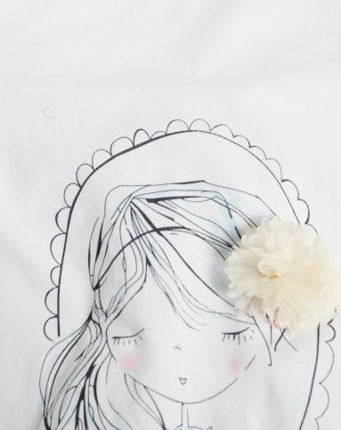 女宝宝白色时尚t恤