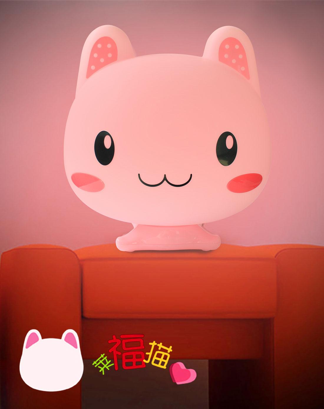 可爱猫举牌照空白素材粉色