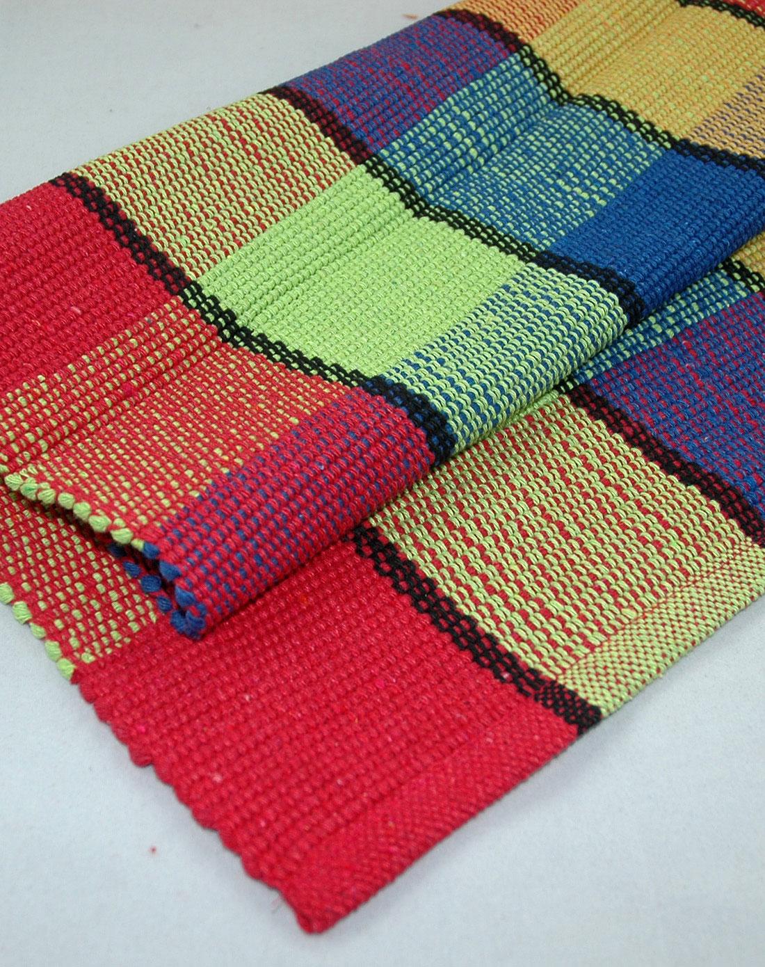 纯棉手工编织地毯脚垫45*75cm