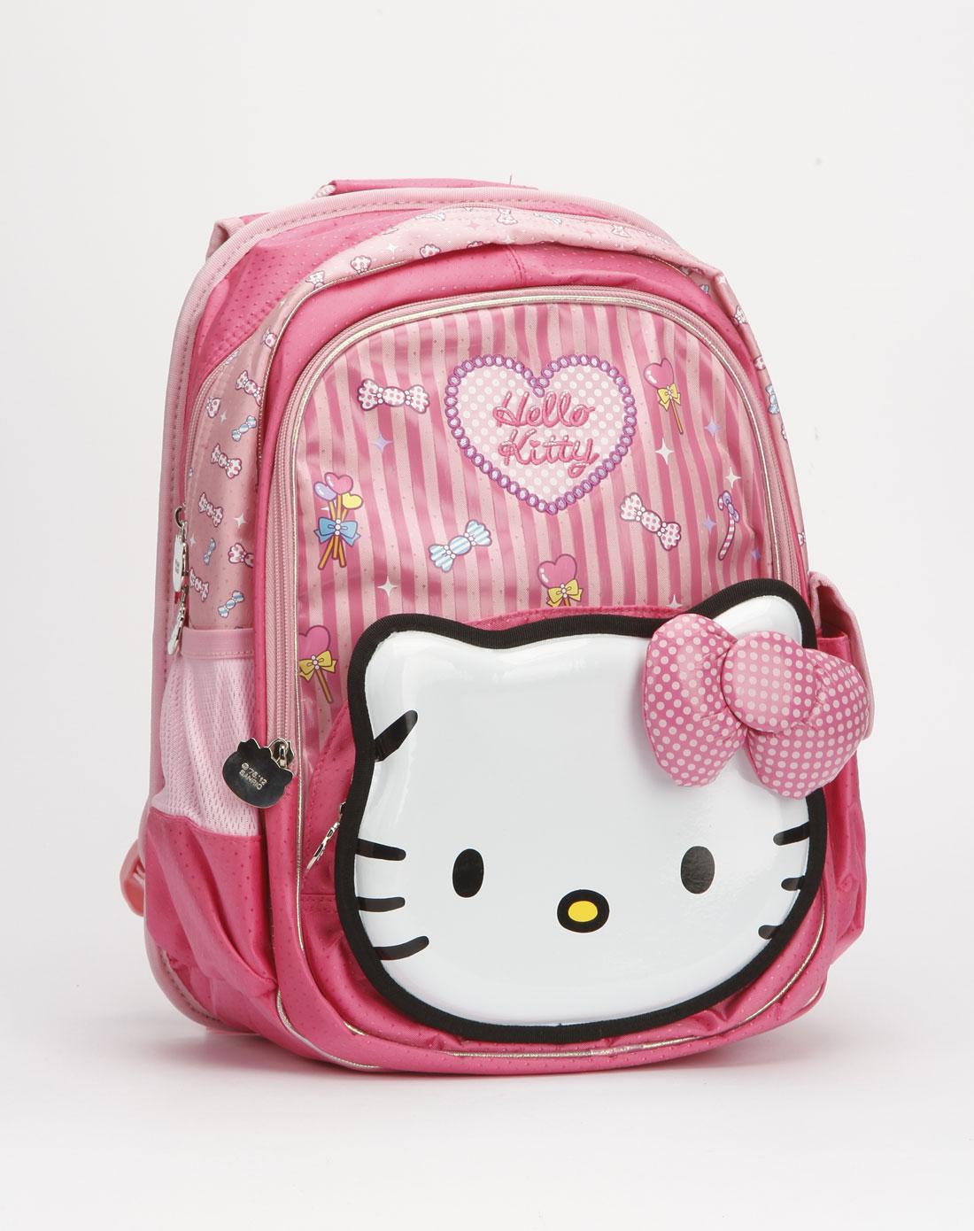 hello kitty 女童粉/黑色个性凯蒂猫书包