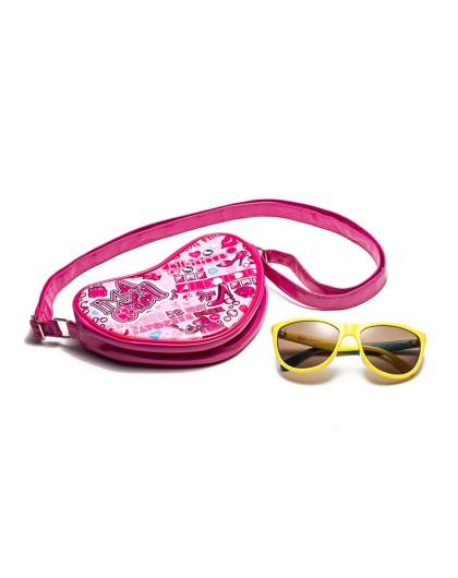 芭比可爱公主太阳眼镜防紫外线
