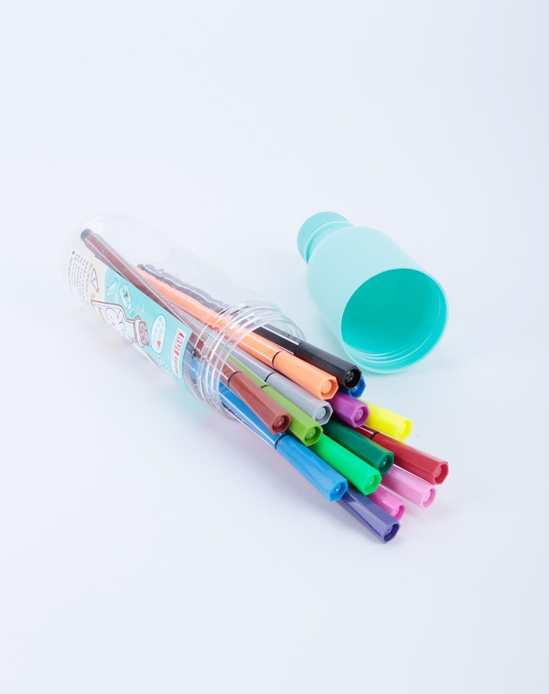 无毒可洗可爱漂流瓶18色水彩笔-包装颜色随机
