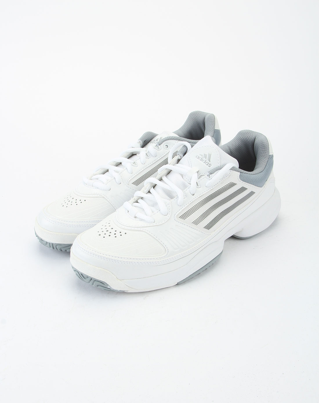 阿迪达斯adidas银白色时尚网球鞋u42929