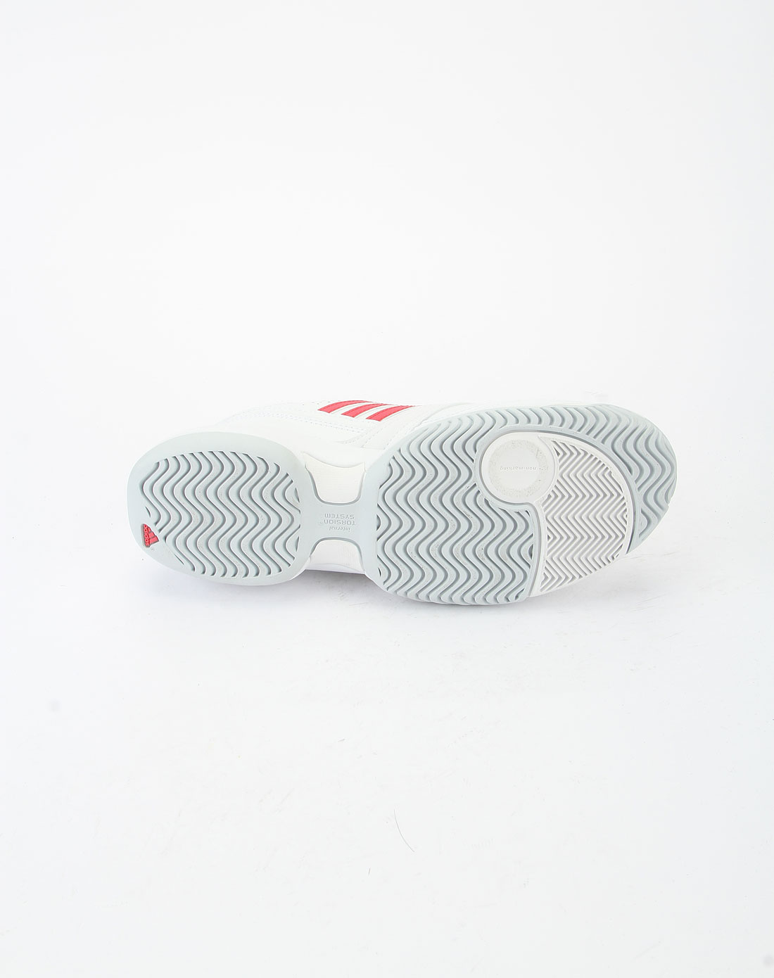 阿迪达斯adidas红色边白色底经典休闲鞋u43976