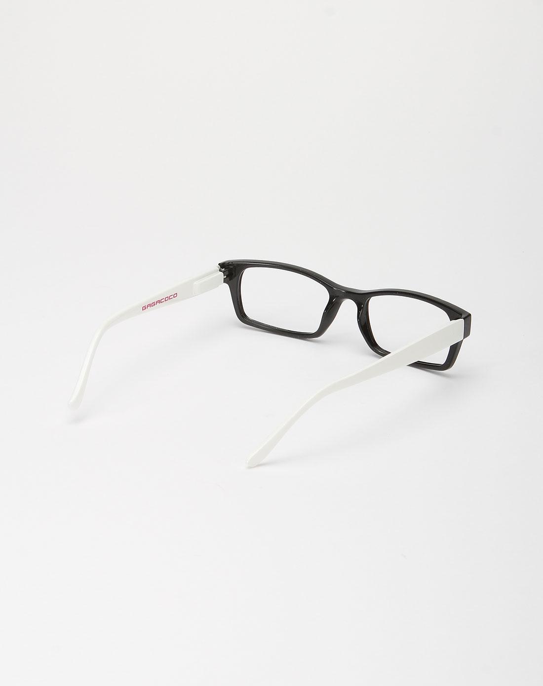 黑白色简约眼镜框