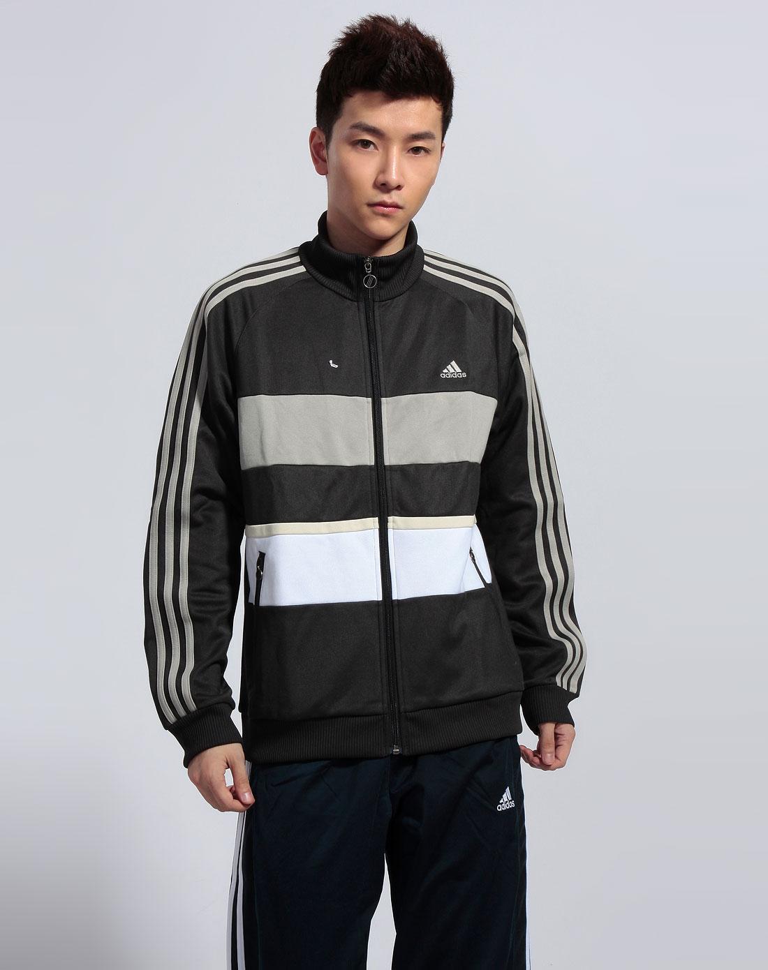 阿迪达斯adidas男装专场-男黑色茄克