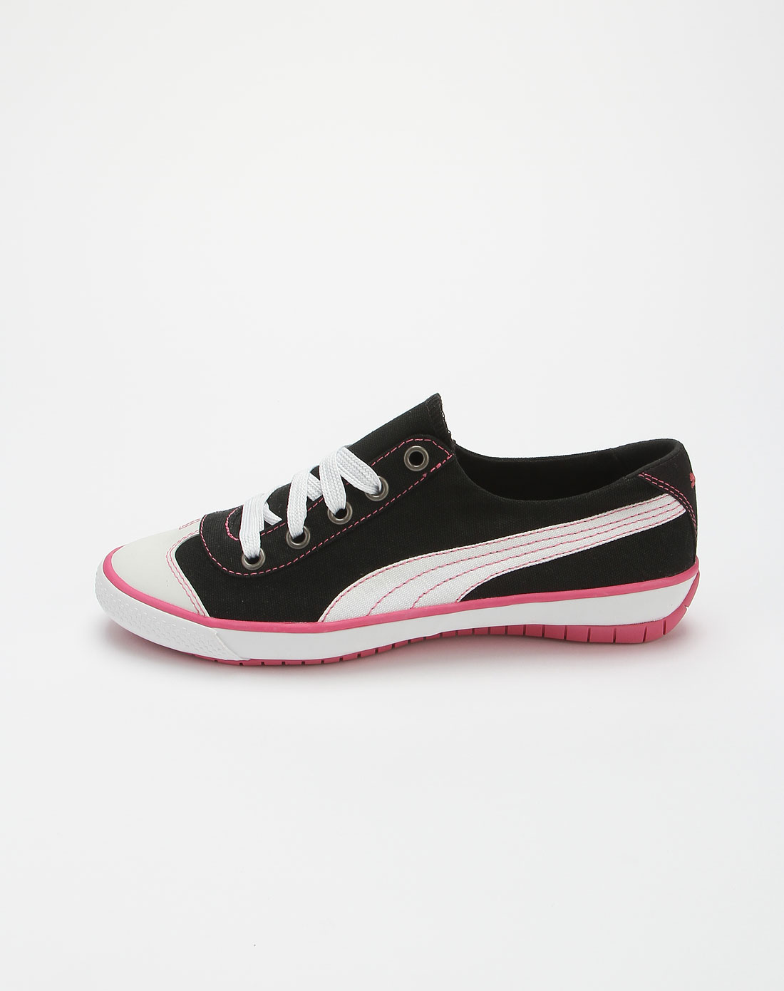 彪马puma黑白色简约休闲帆布鞋35068310