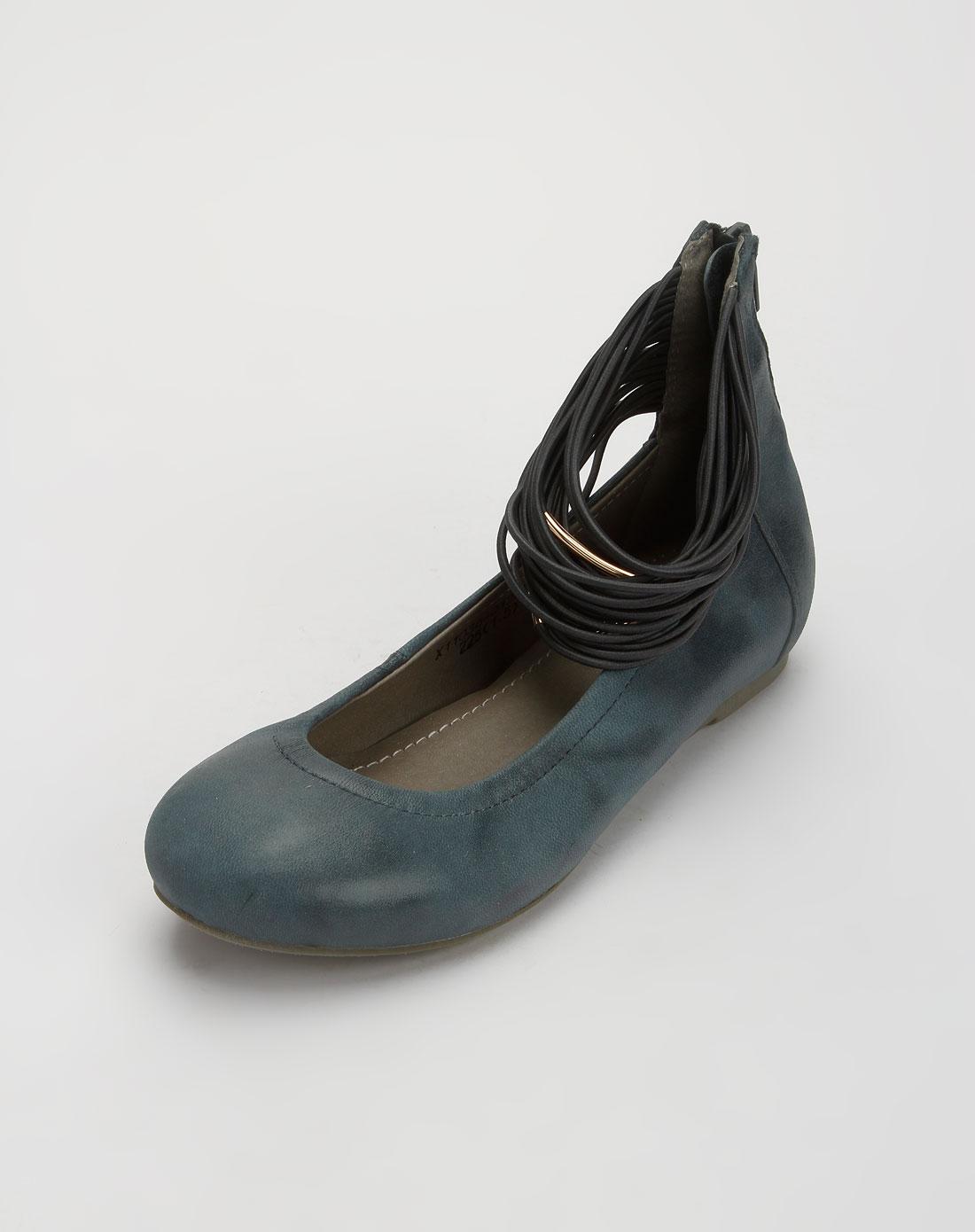 馨宠儿xinchonger女款暗蓝色时尚平底凉鞋x11038-ja