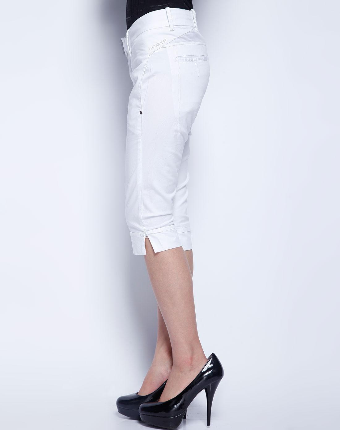 白色简约休闲七分裤
