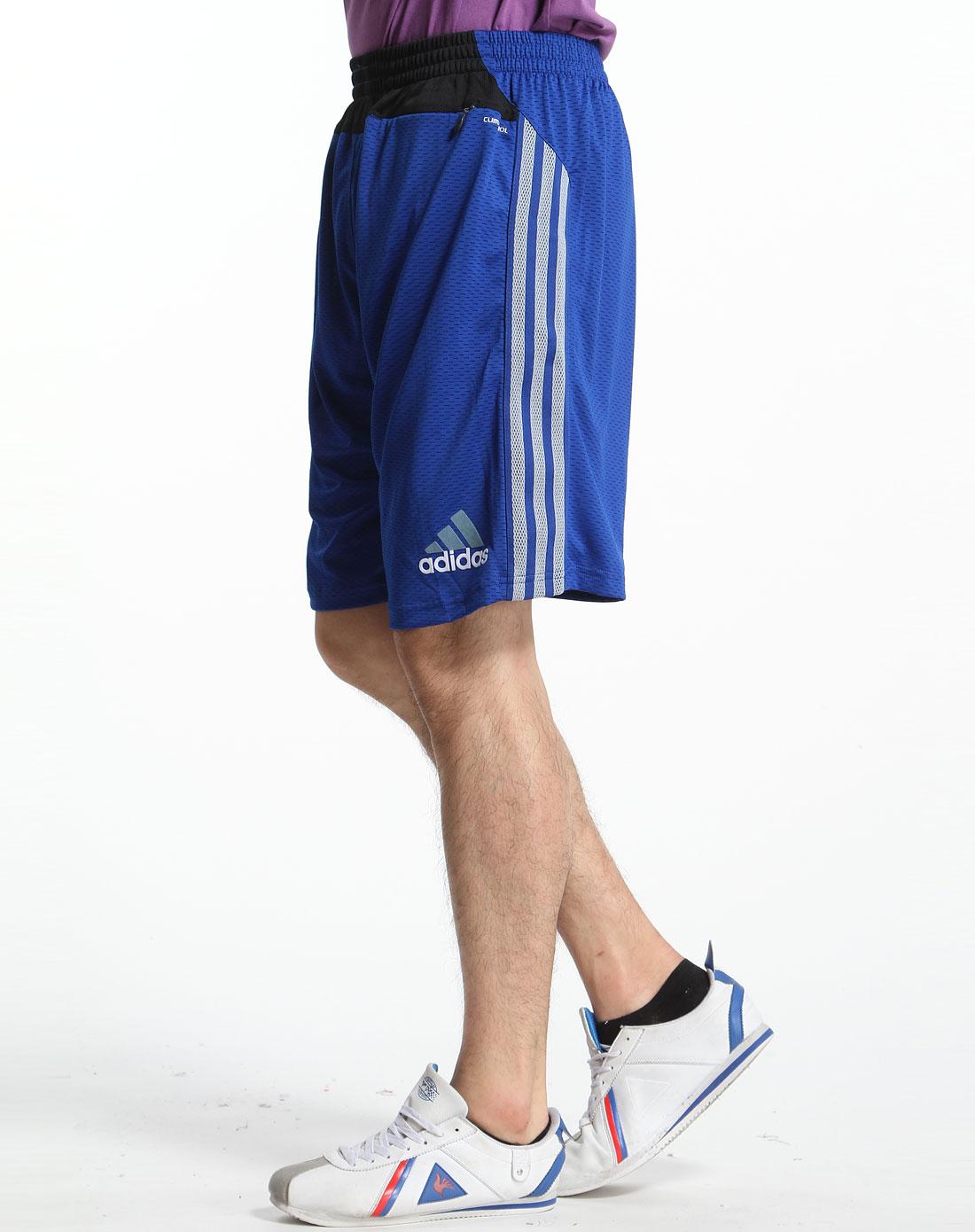 蓝色运动短裤