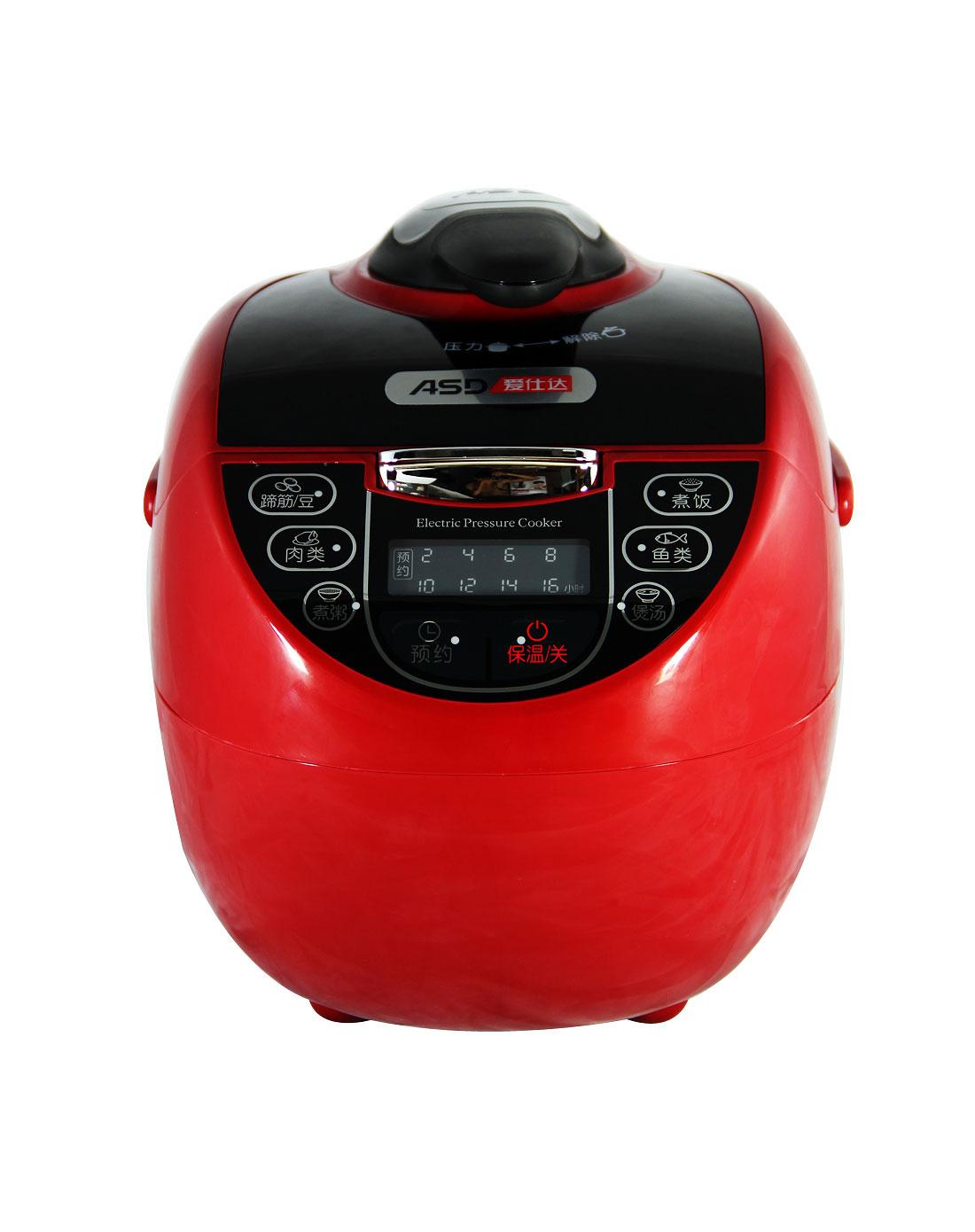 爱仕达asd电器专场红色电压力锅4lap-f4003ed