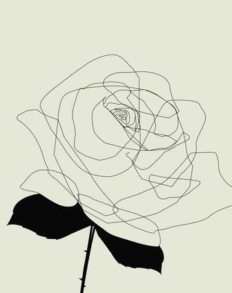 60*60cm玫瑰花装饰无框画3联