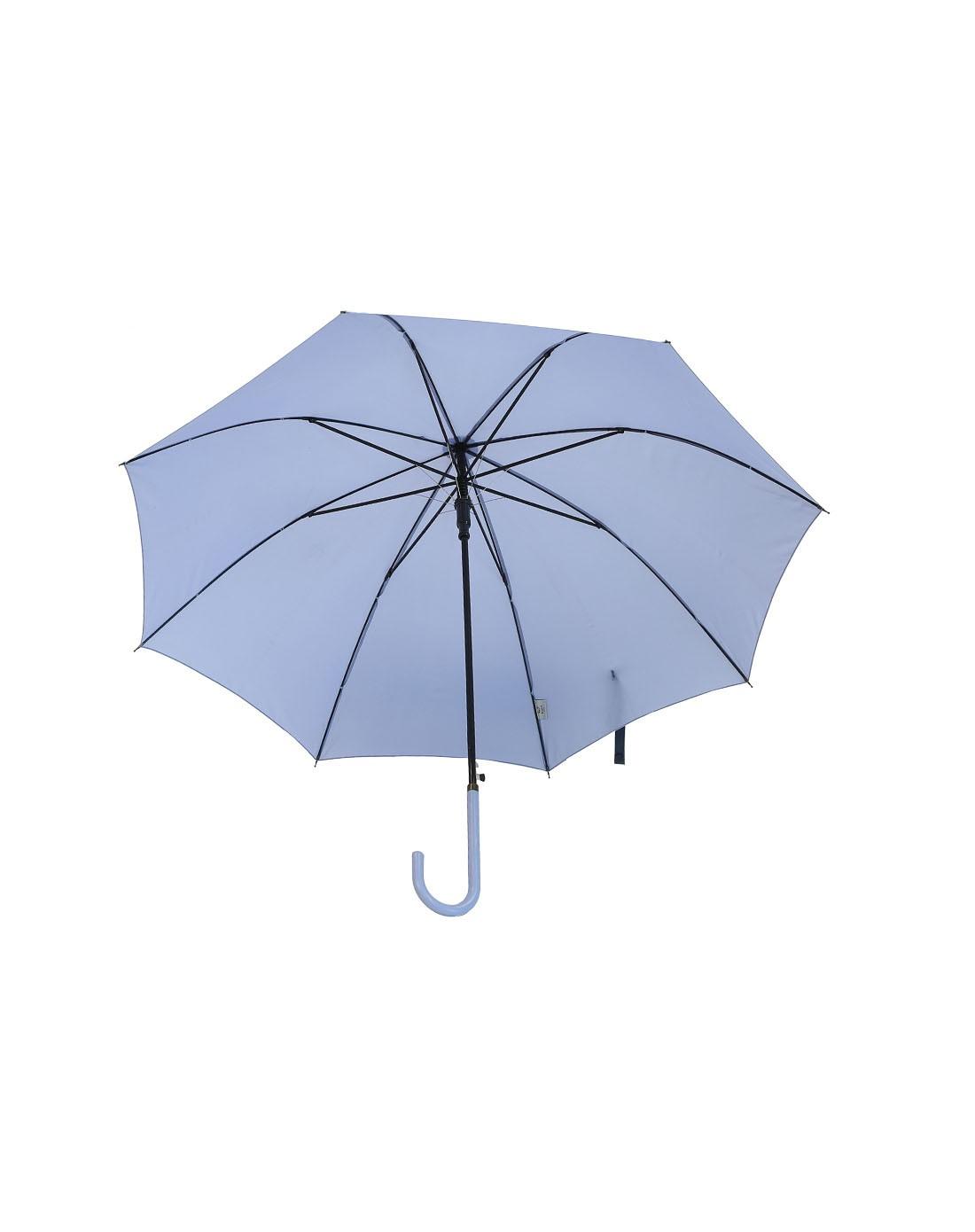 > may brunch 淡蓝色纯色自动长柄雨伞