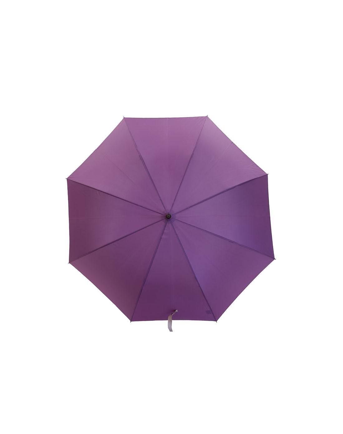> may brunch 奶紫色纯色自动长柄雨伞