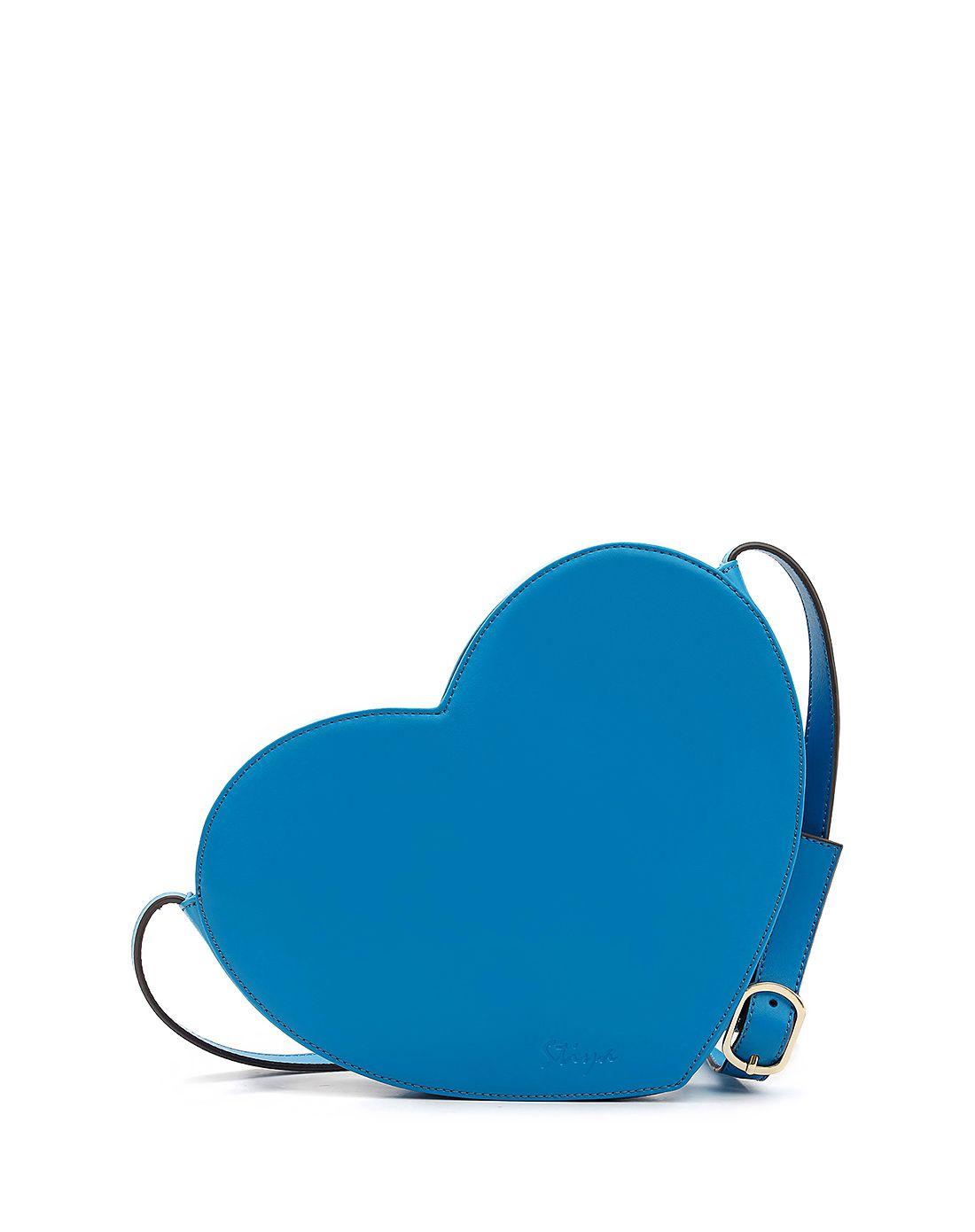 蓝色浪漫可爱心形单肩斜挎包