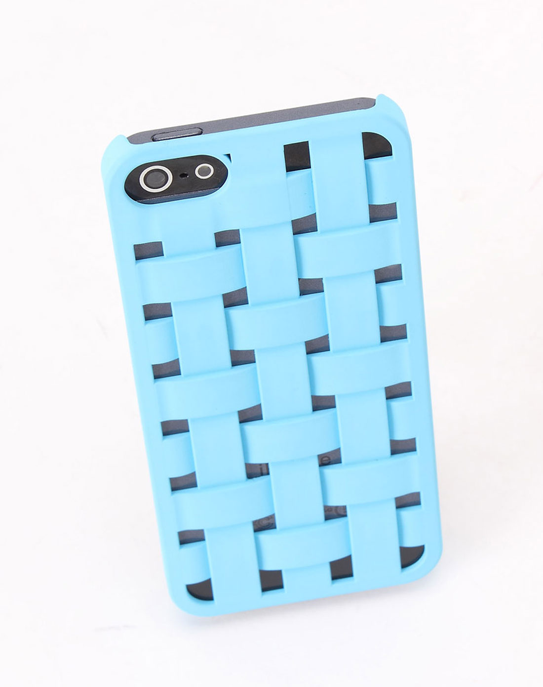 iqd 欧美设计 iphone5 编织纹手机保护壳 蓝色