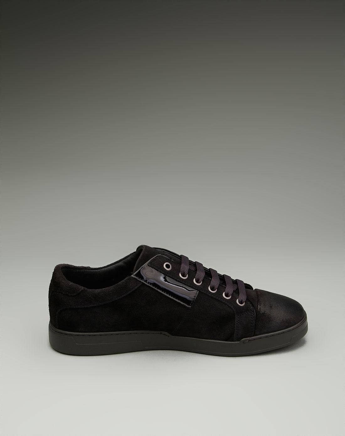 男款绒面简约时尚系鞋带休闲鞋咖啡色