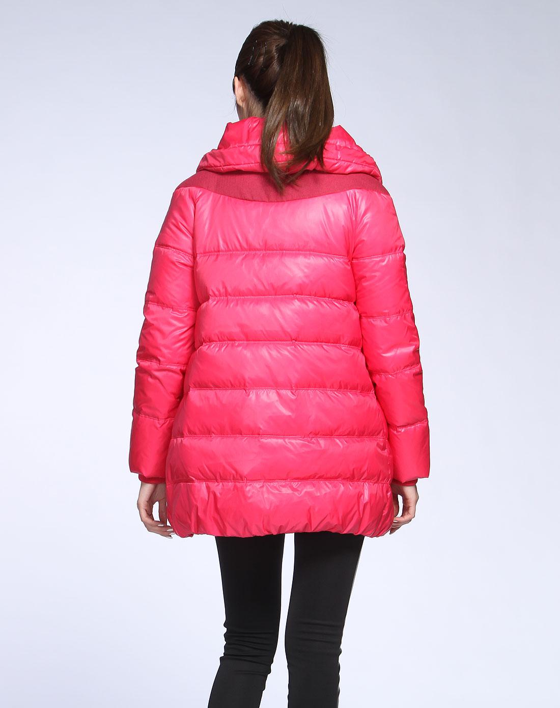【玫红色羽绒服】价格 图片 品牌 怎么样 京东商城