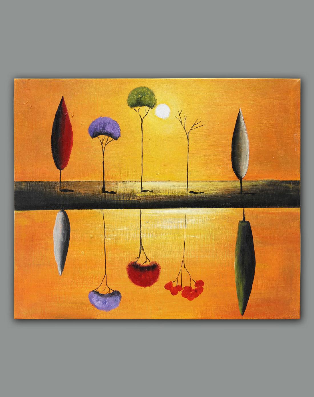 《树之倒影》纯手绘油画