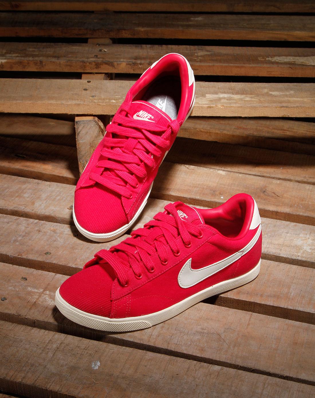 耐克nike-女款深玫红色布面系带运动鞋429883-603