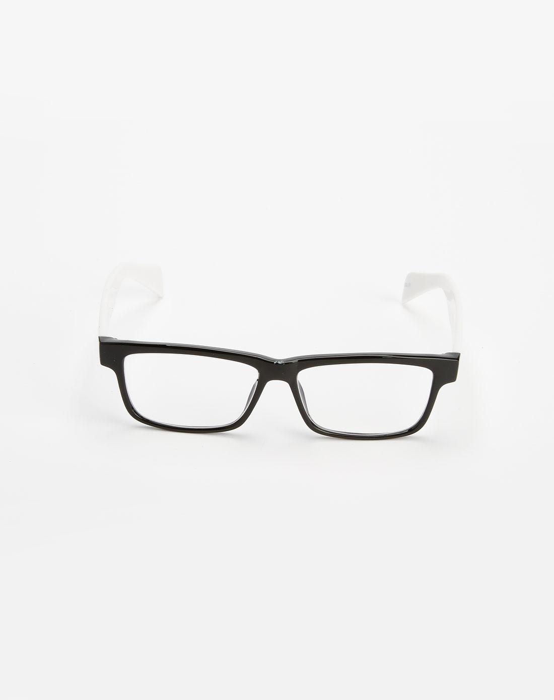 白腿黑框个性防辐射眼镜