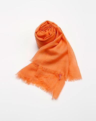 bailewei配件专场橙色简约纯色羊绒围巾5blw20120121