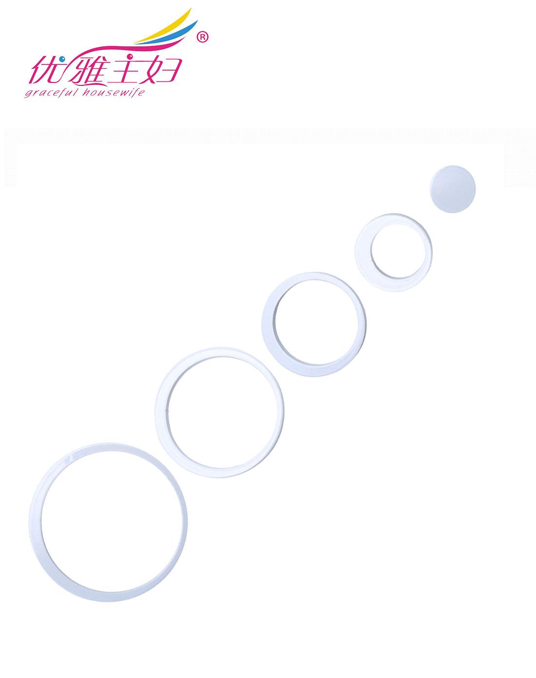 优雅主妇 白色创意圆环立体墙贴