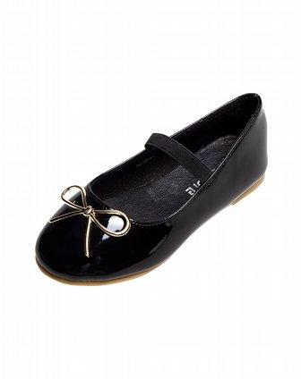kids女童黑色皮鞋b2350606000