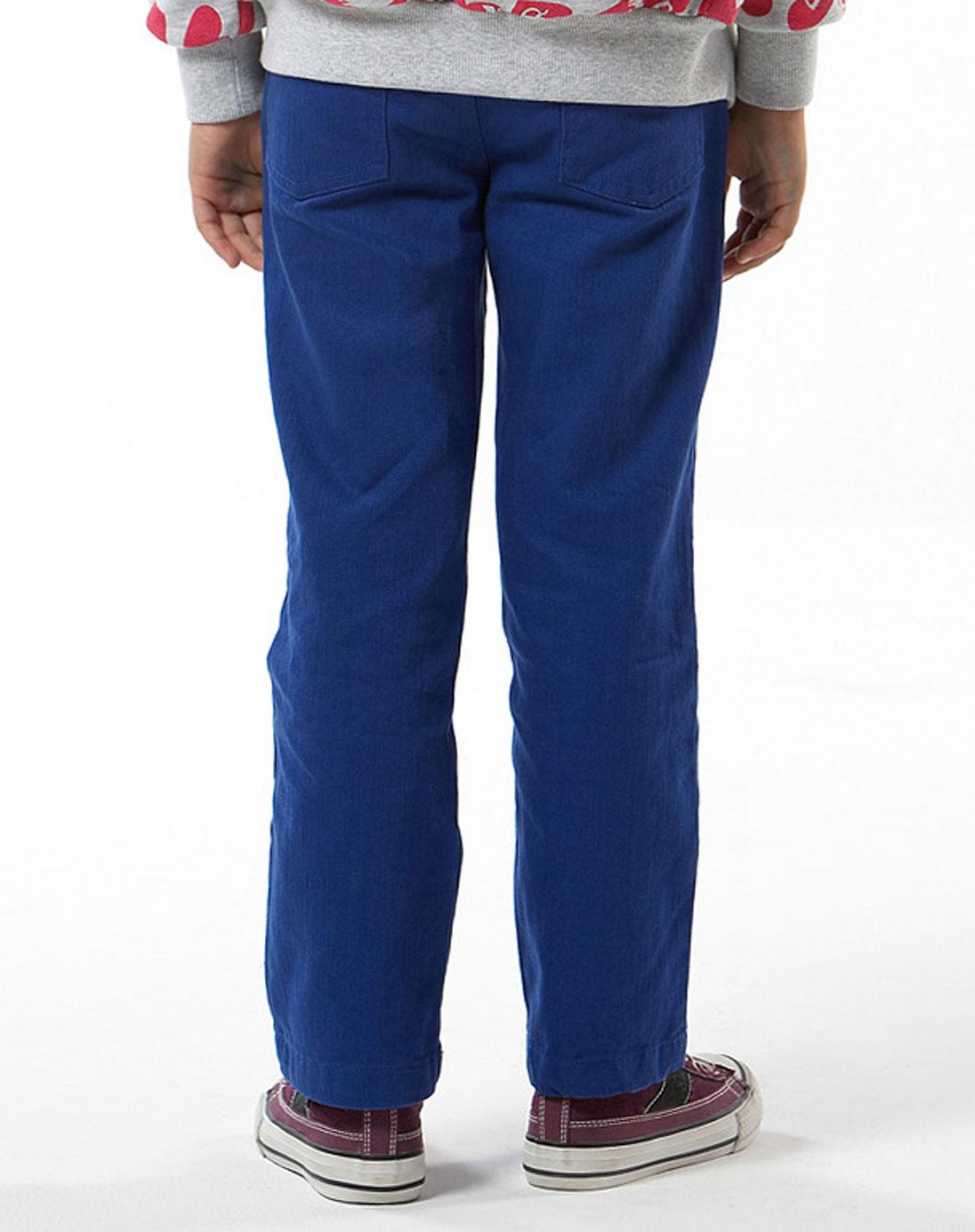 女童深彩蓝色彩色牛仔裤