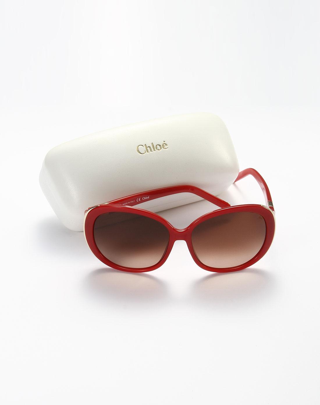 chloe太阳眼镜专场女款可爱迷人板材全框太阳镜红色ce