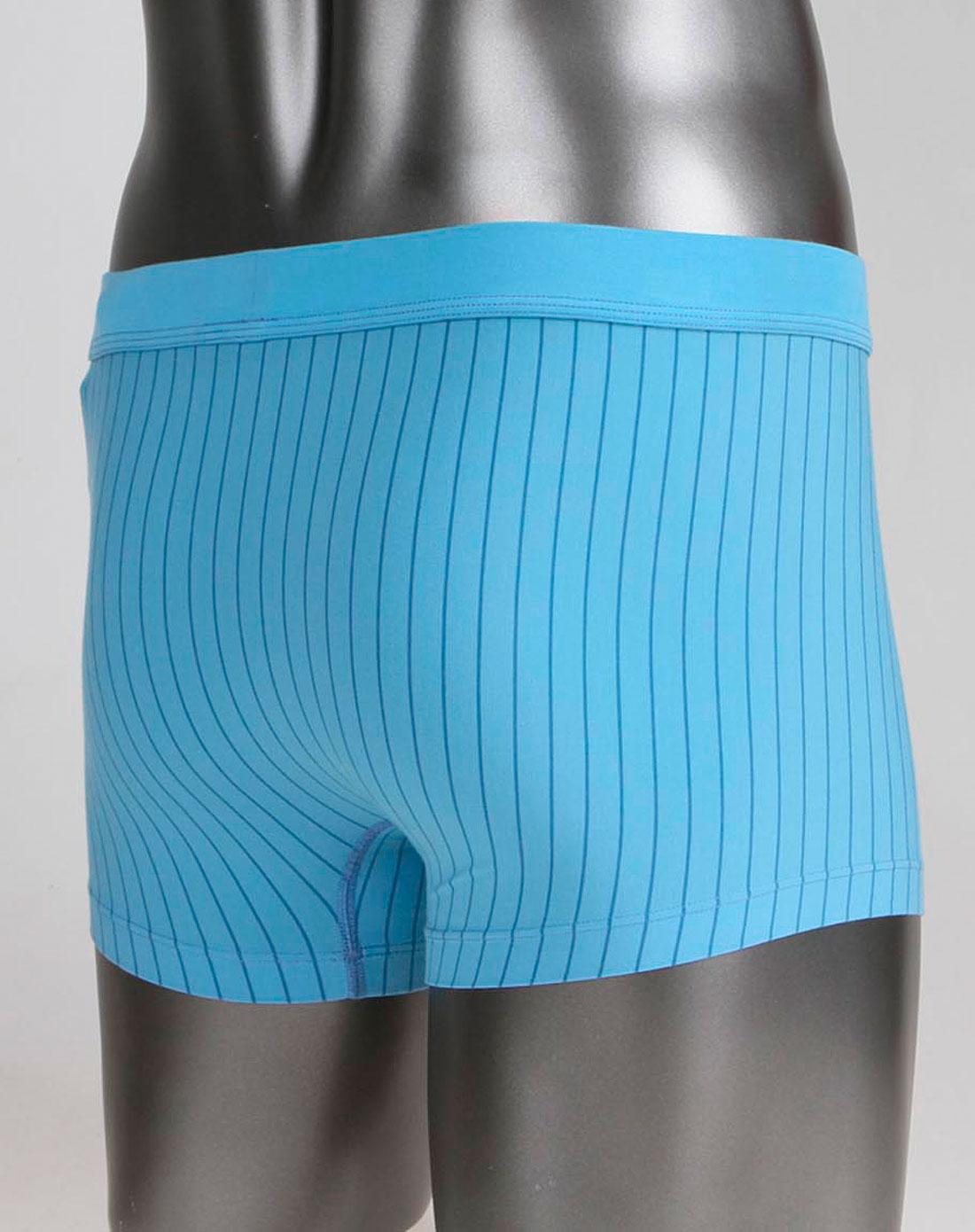 蓝色条纹舒适针织内裤