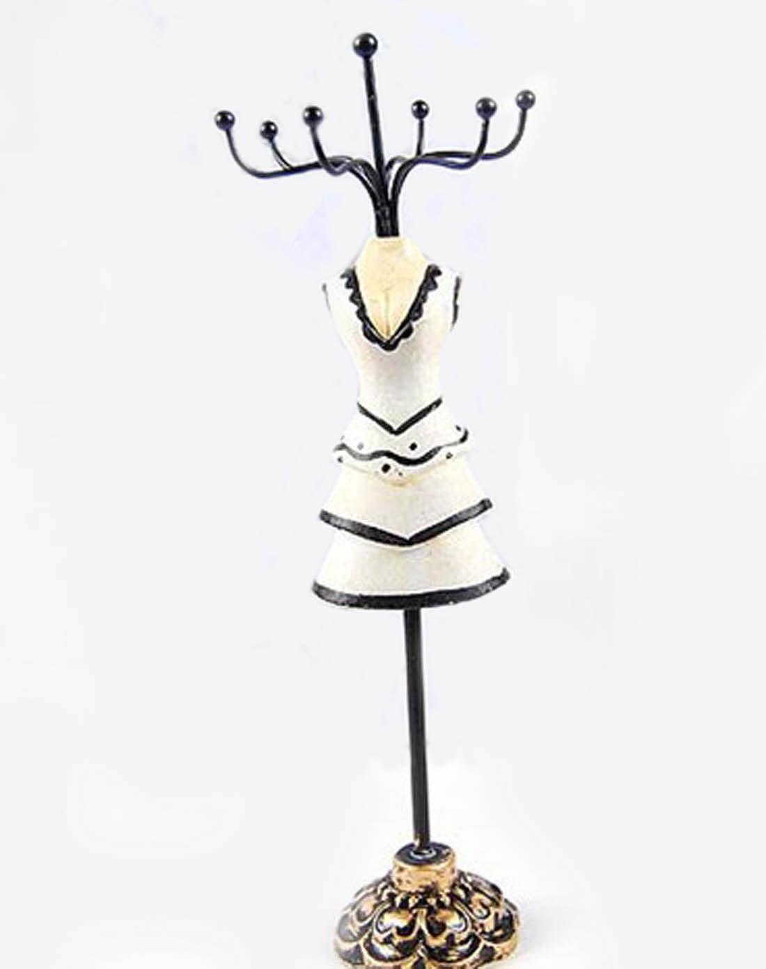 木雕手绘首饰架(白色)