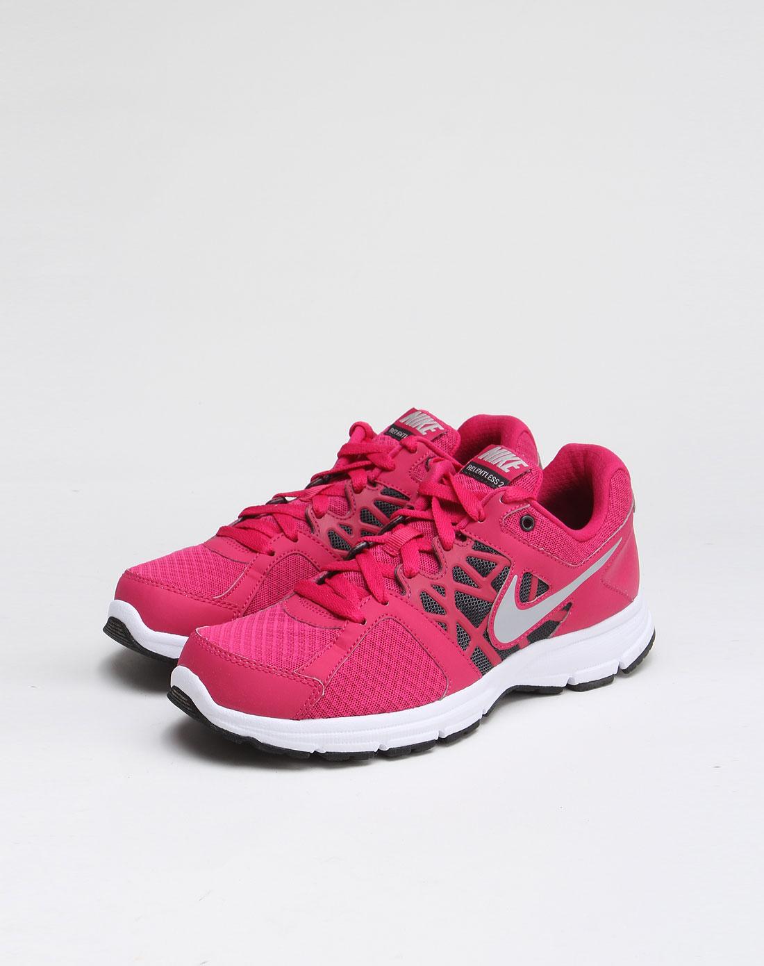 耐克nike-女鞋专场-玫红色舒适透气运动鞋