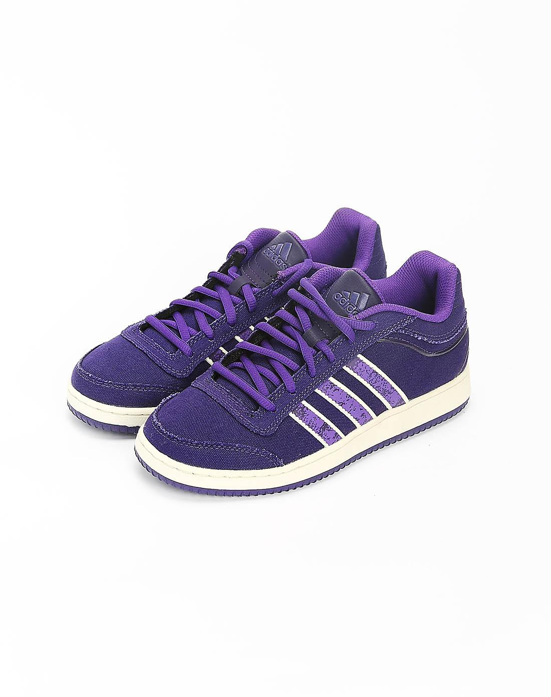 阿迪达斯adidas女子紫色篮球鞋g24361
