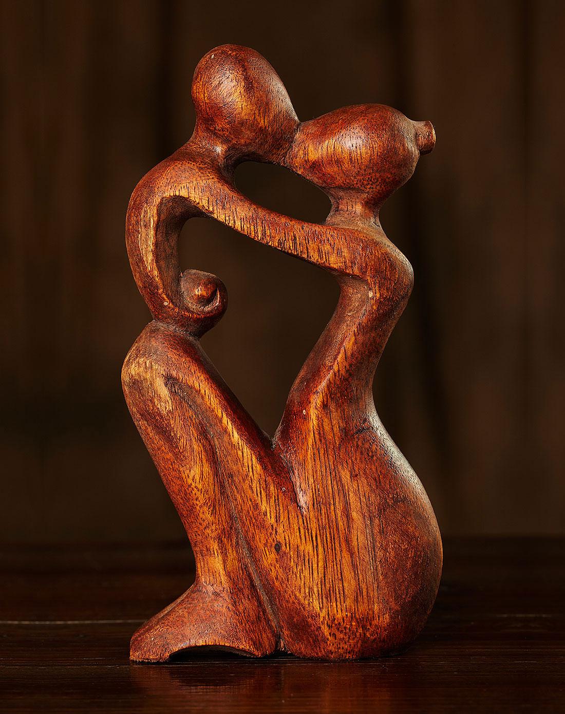 【印尼.巴厘岛】母子情.手工木雕