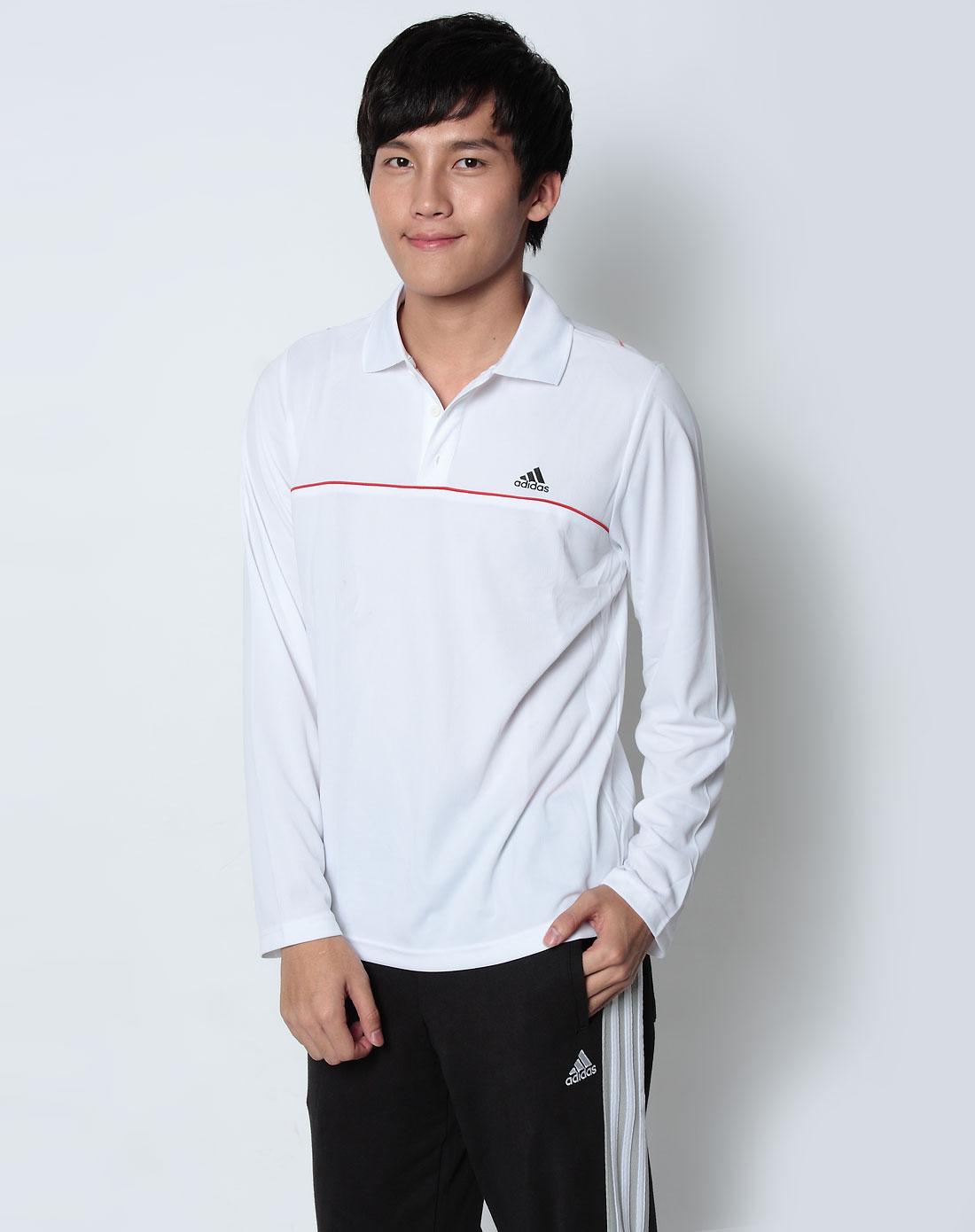 白色长袖polo衫