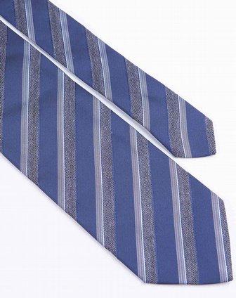 深蓝色斜条纹斯文领带