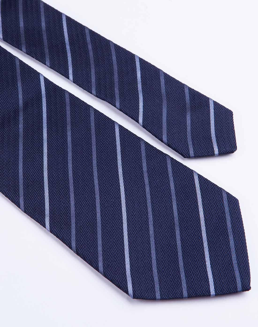 深蓝色斜条纹时尚领带