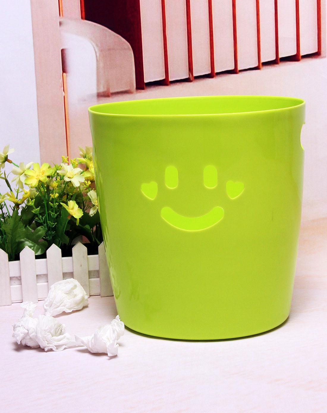 h&3家居用品专场可爱绿色笑脸收纳桶6920130503080