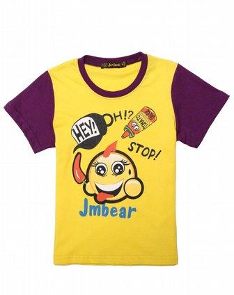 男童黄色可爱图案短袖t恤