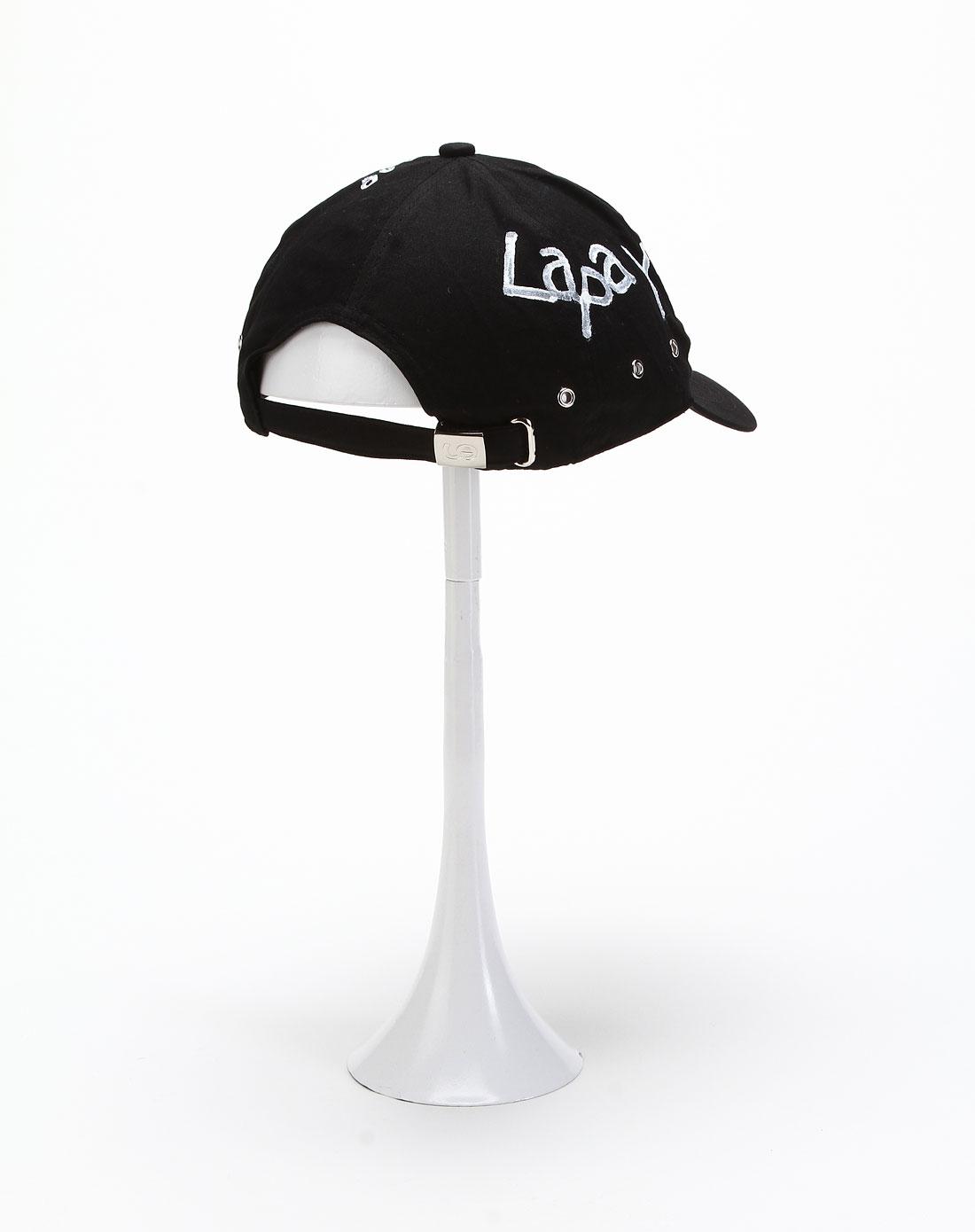 黑色手繪棒球帽