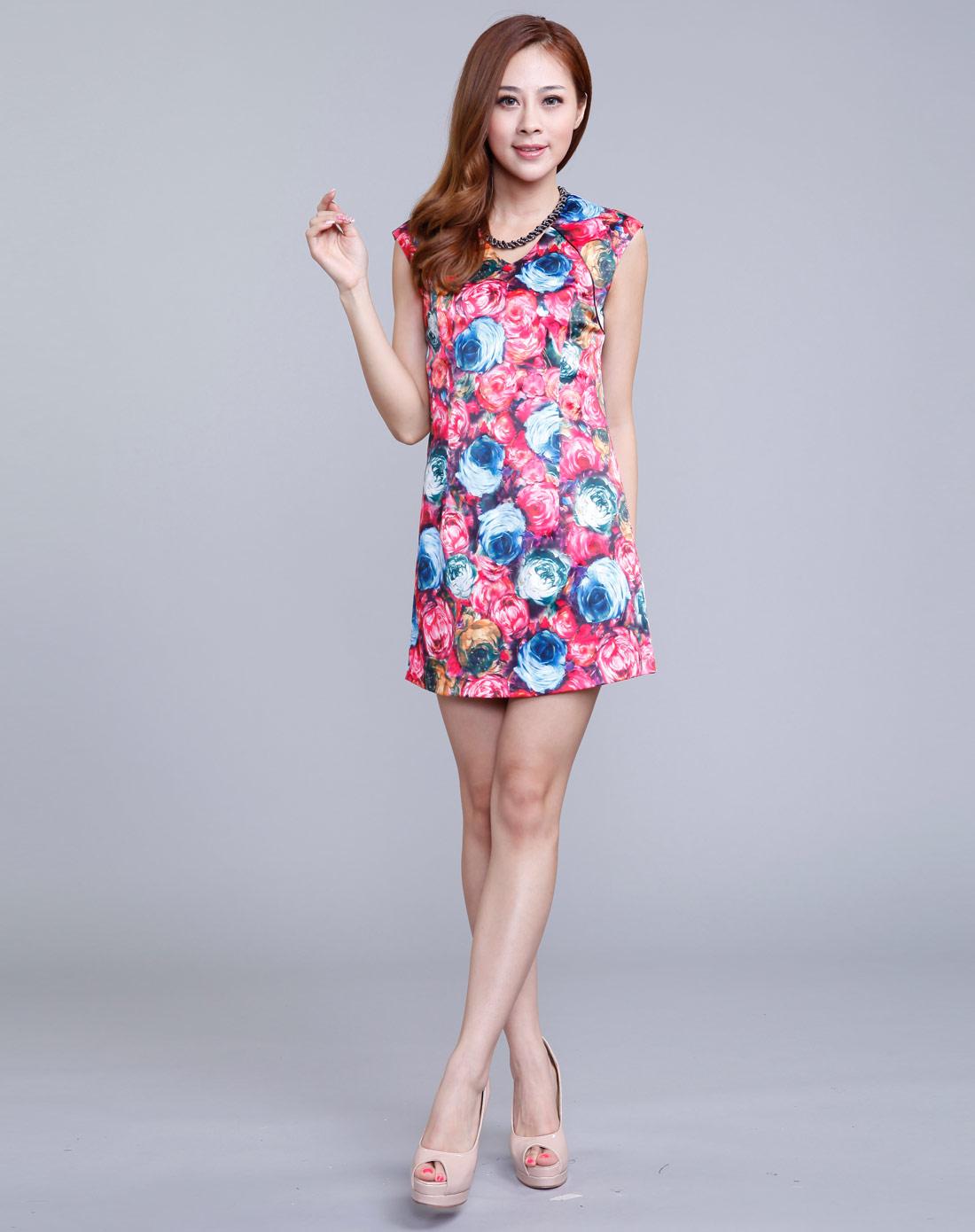 复古时尚旗袍连衣裙