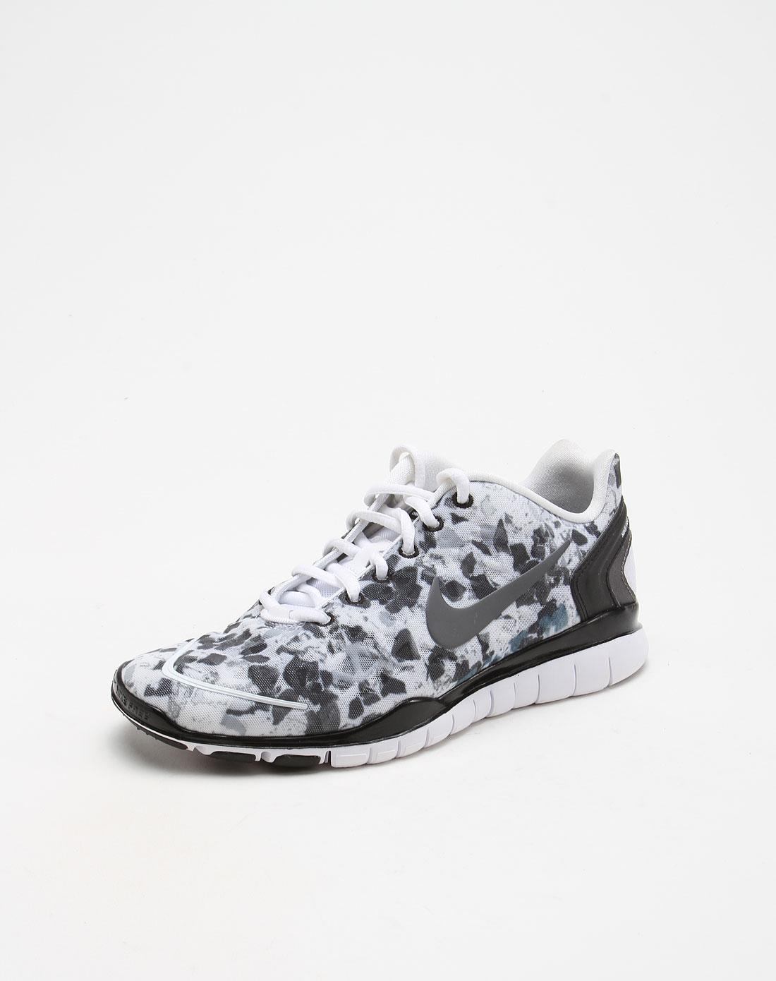 耐克nike-女鞋专场-轻便款迷彩白底灰黑色运动鞋