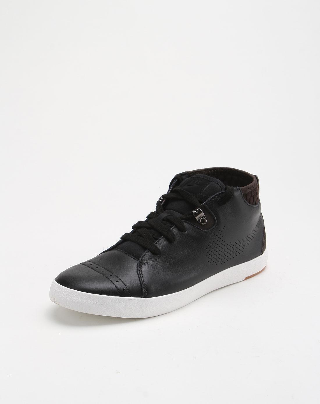 男款欧式风格百搭白底黑色文化鞋