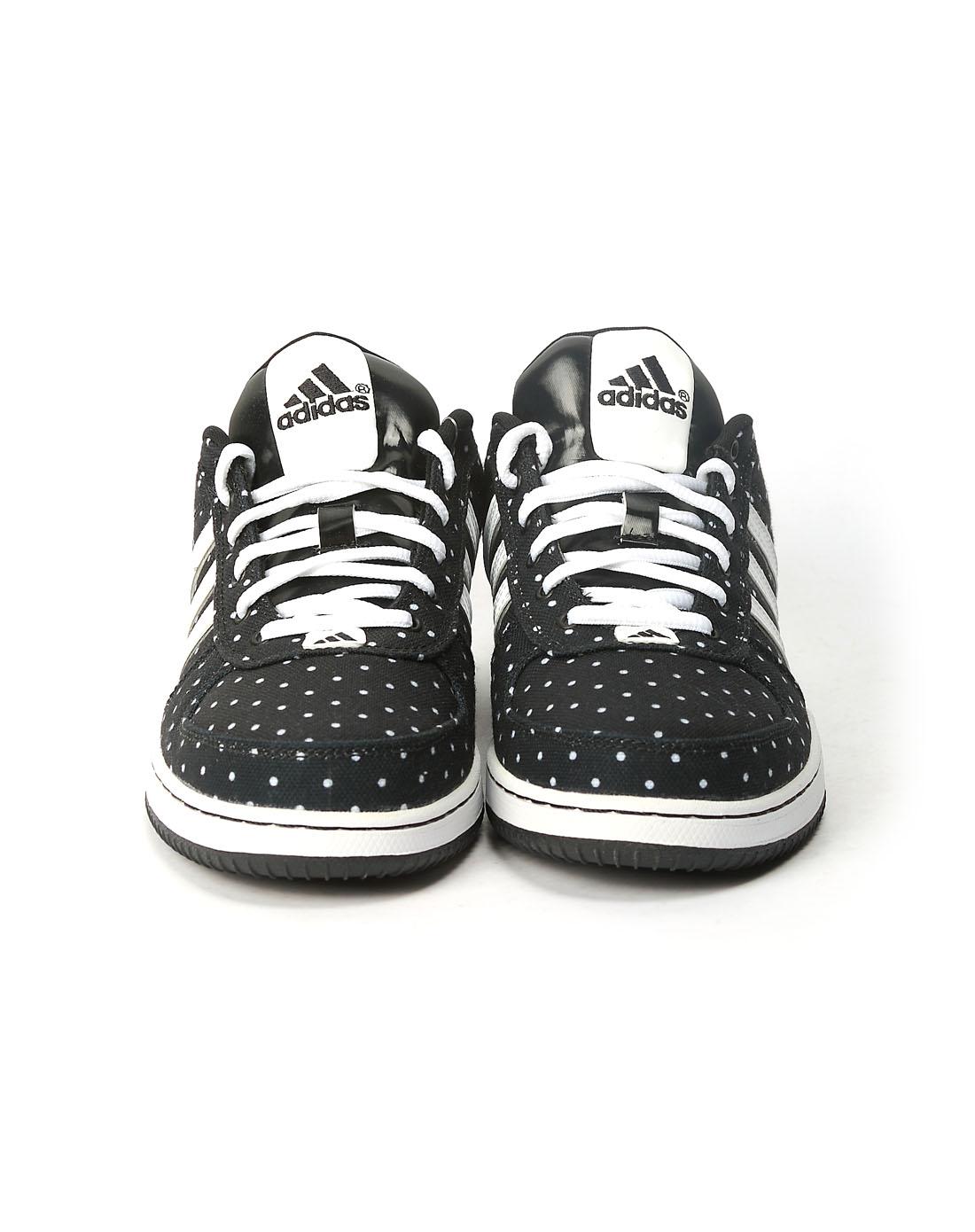 阿迪达斯adidas男女鞋女子黑色篮球鞋g59027