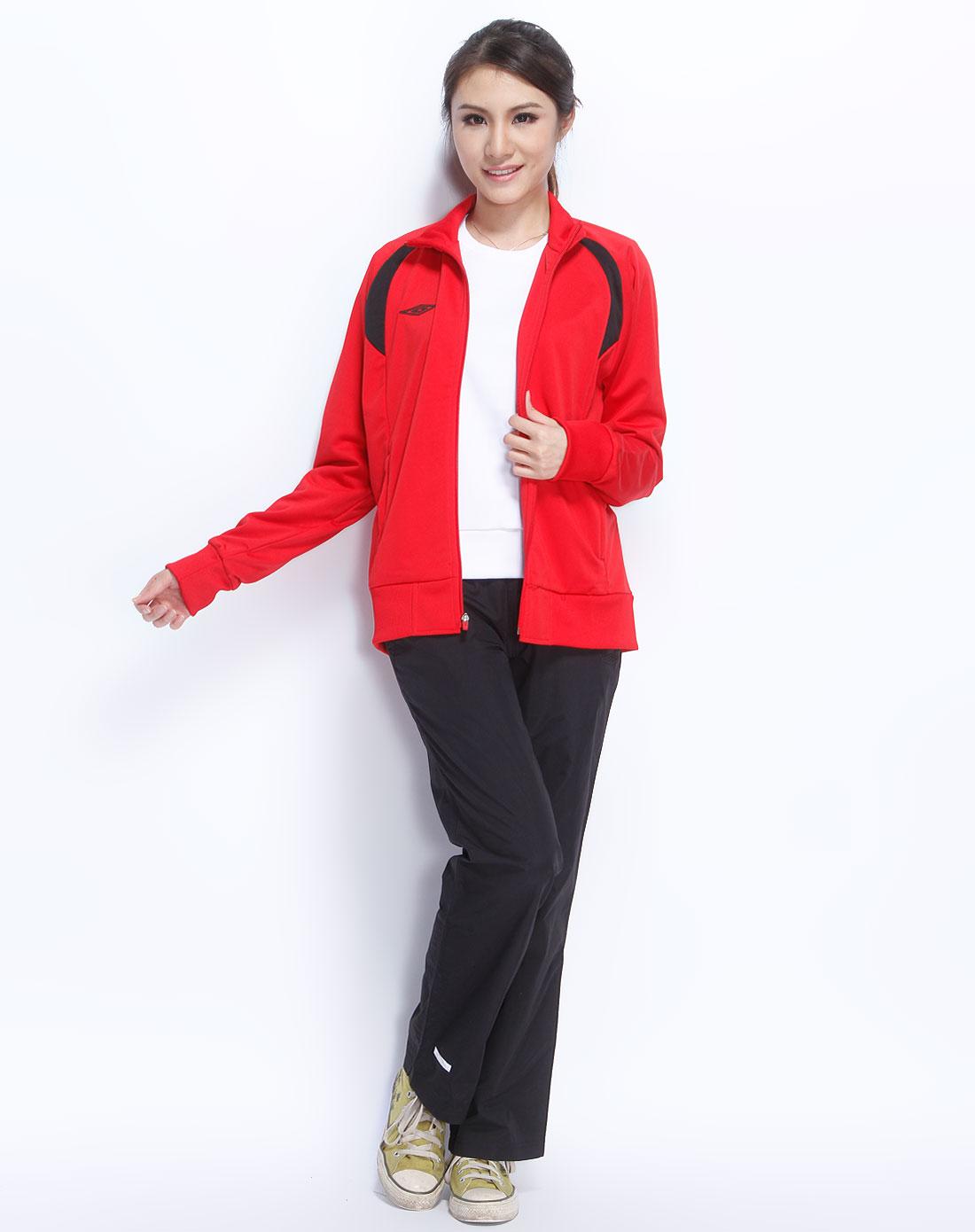 大红色长袖简约个性外套