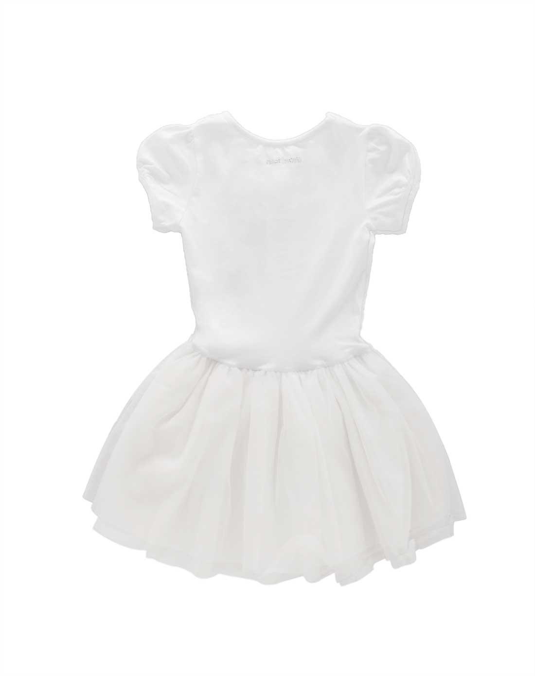 女童白色纱裙