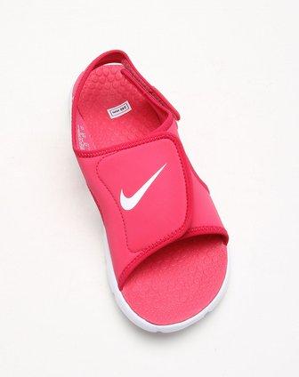 耐克nike-童装儿童款玫红色沙滩凉鞋386520-600