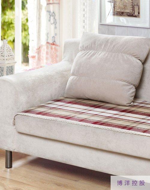 棉朵 花边沙发垫 英伦红格70 150cm怎么样,好不好