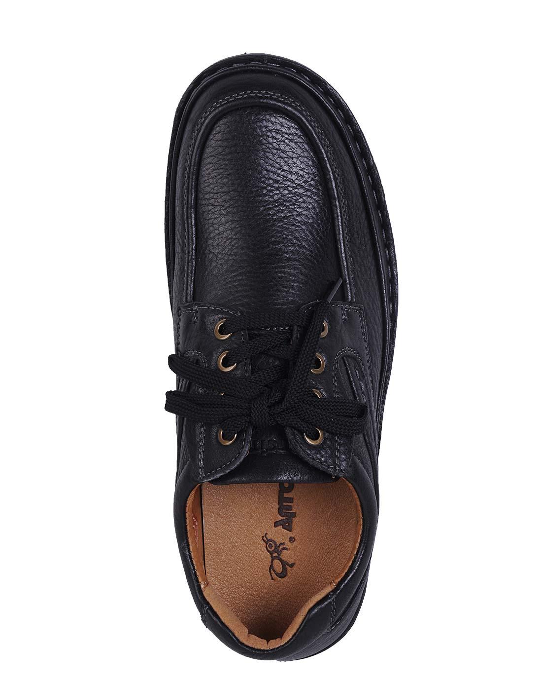 蚂蚁城antcity黑色休闲单鞋314095-30001